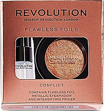 Parfumuri și produse cosmetice Set - Makeup Revolution Flawless Foils (eyeshadow/2g + primer/2ml) (Overcome)