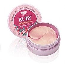 Parfumuri și produse cosmetice Patch-uri din hidrogel cu rubin și trandafir bulgaresc - Petitfee & Koelf Ruby & Bulgarian Rose Eye Patch