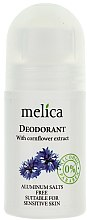 Parfumuri și produse cosmetice Deodorant cu extract de albăstrele - Melica Organic With Cornflower Extract Deodorant