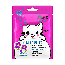 "Parfumuri și produse cosmetice Mască de față ""Pretty kitty"" - 7 Days Animal Pretty Kitty"