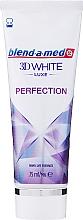 """Parfumuri și produse cosmetice Pastă de dinți """"Perfecțiune"""" - Blend-a-med 3D White Luxe Perfection"""