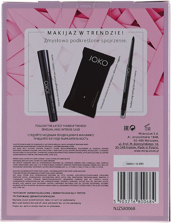 Set - Joko Beauty Box (mascara/9ml + wipes/15pc + eyeliner/5g) — Imagine N2