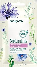 Parfumuri și produse cosmetice Mască de țesut cu lavandă pentru față - Soraya Naturalnie Face Mask