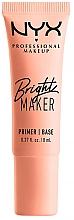 Parfumuri și produse cosmetice Осветляющий праймер для лица - NYX Professional Bright Maker Brightening Primer (мини)