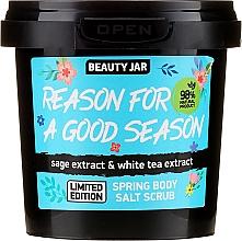 Parfumuri și produse cosmetice Scrub de sare pentru corp - Beauty Jar Reason For A Good Season Spring Body Salt Scrub