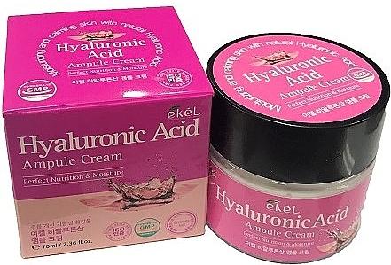 Cremă cu acid hialuronic pentru față - Ekel Hyaluronic Acid Ampule Cream — Imagine N1