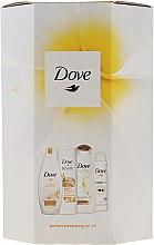 Parfumuri și produse cosmetice Set - Dove Perfect Pampering (sh/gel/250ml + b/lot/250ml + shmp/250/ml + deo/150ml)
