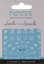 Parfumuri și produse cosmetice Abțibilduri pentru unghii, 3683, MJ167 - Neess