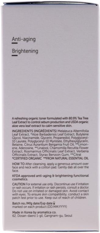 Tonic de față - Aromatica Tea Tree Balancing Toner — Imagine N3