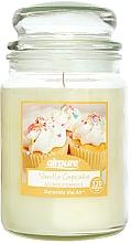 """Parfumuri și produse cosmetice Lumânăre parfumată """"Prăjitură cu vanilie"""" - Airpure Jar Scented Candle Vanilla Cupcake"""
