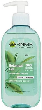 Gel de curățare pentru față - Garnier Skin Naturals Botanical Gel Green Tea Leaves — Imagine N1