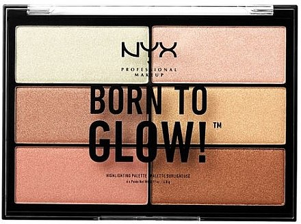 Paleta de farduri iluminatoare - NYX Professional Makeup Professional Born to Glow Highlighting Palette