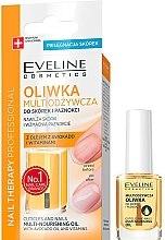 Ulei nutritiv pentru unghii și cuticule - Eveline Cosmetics Nail Therapy Professional  — Imagine N1
