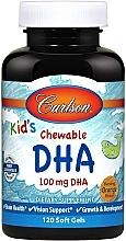 Parfumuri și produse cosmetice DHA masticabil pentru copii, aromă bogată de portocală - Carlson Labs Kid's Chewable DHA