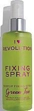 Parfumuri și produse cosmetice Spray pentru fixarea machiajului - I Heart Revolution Fixing Spray Green Tea