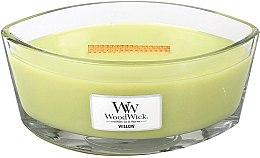 Parfumuri și produse cosmetice Lumânare aromată în suport de sticlă - WoodWick Hearthwick Flame Ellipse Candle Willow