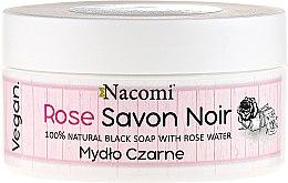 Parfumuri și produse cosmetice Săpun negru cu apă de trandafir - Nacomi Savon Noir Natural Black Soap with Rode Water