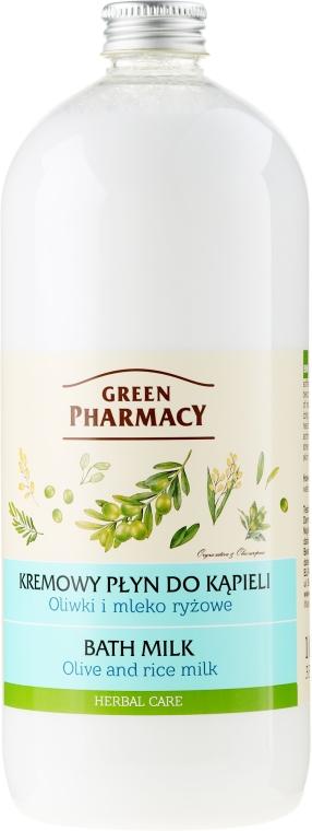 Lapte de baie cu ulei de măsline și lapte de orez - Green Pharmacy