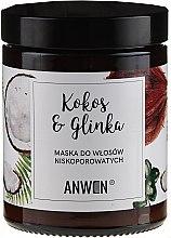 Parfumuri și produse cosmetice Mască pentru păr cu porozitate scăzută - Anwen Low-Porous Hair Mask Coconut and Clay