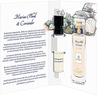 Dermacol Marine Wood And Coriander - Apă de parfum (mostră)