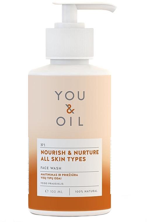 """Apă de curățare pentru față """"Nutriție și îngrijire"""" - You & Oil Nourish & Nurture Face Wash — Imagine N1"""