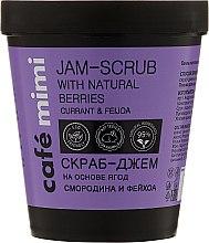 "Parfumuri și produse cosmetice Scrub de corp ""Coacăz și Feijoa"" - Cafe Mimi Jam-Scrub With Natural Berries"