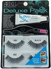 Parfumuri și produse cosmetice Set de gene false - Ardell Deluxe Twin Pack Lashes #105 With Applicator