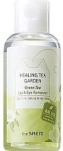 Parfumuri și produse cosmetice Demachiant cu extract de ceai verde pentru ochi și buze - The Saem Healing Tea Garden Green Tea Lip & Eye Remover