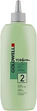 Parfumuri și produse cosmetice Loțiune pentru ondularea chimică permanentă a părului poros și vopsit- Goldwell Topform 2