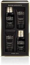 Parfumuri și produse cosmetice Set - Baylis & Harding Men's Black Pepper & Ginseng Set (h&b/wash/100ml + ash/balm/50ml + sh/gel/50ml + f/wash/100ml)