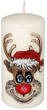 """Parfumuri și produse cosmetice Lumânare decorativă """"Rudolph"""", albă - Artman Christmas Candle Rudolf White"""