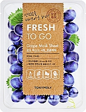 Parfumuri și produse cosmetice Mască de țesut cu extract de struguri - Tony Moly Fresh To Go Mask Sheet Grape