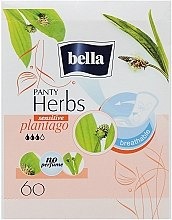 Parfumuri și produse cosmetice Absorbante Panty Herbs Sensetive Plantago, 60 bucăți - Bella