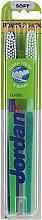 """Parfumuri și produse cosmetice Set periuțe de dinți, moi """"Clasic"""", albastru + verde - Jordan Classic Soft (toothbrush/2szt)"""