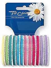 Parfumuri și produse cosmetice Elastice pentru păr 12 buc., multicolore - Top Choice 22234