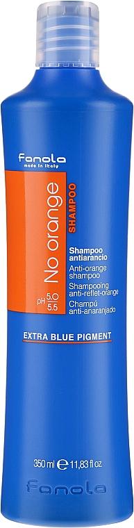 Șampon pentru păr vopsit în nuanțe închise - Fanola No Orange Extra Blue Pigment Shampoo