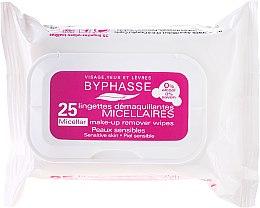 Parfumuri și produse cosmetice Byphasse Make-up Remover Micellar Solution Sensitive Skin Wipes - Șervețele demachiante