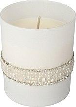 Parfumuri și produse cosmetice Lumânare aromată, 8x9,5 cm, albă - Artman Crystal Glass Pearl