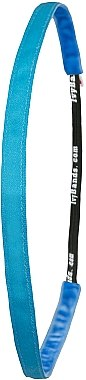Cordeluță de păr, albastru neon - Ivybands Neon Blue Super Thin Hair Band — Imagine N1