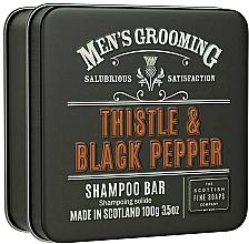 "Parfumuri și produse cosmetice Șampon ""Ciulin și ardei negru"" - Scottish Fine Soaps Mens Grooming Thistle & Black Pepper Shampoo Bar"
