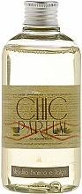 """Parfumuri și produse cosmetice Rezervă pentru difuzor de aromă """"Mosc alb și talc"""" - Chic Parfum Refill Muschio Bianco e Talco"""
