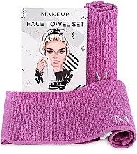 """Parfumuri și produse cosmetice Set de prosoape de față, pentru călătorii, mov """"MakeTravel"""" - Makeup Face Towel Set"""
