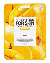 "Parfumuri și produse cosmetice Mască din țesut ""Mango"" - Superfood for Skin Farmskin Fresh Food Mango Mask"