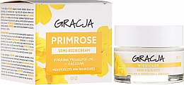 Cremă nutritivă cu ulei de primulă - Miraculum Gracja Semi-oily Cream With Evening Primrose — Imagine N1