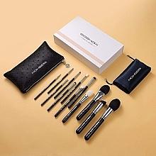 Parfumuri și produse cosmetice Set pensule de machiaj, argintiu strălucitor - Eigshow Beauty Makeup Brush Master Light Gun Black