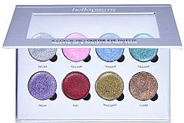 Parfumuri și produse cosmetice Paletă de machiaj - Bellapierre 8 Color Pro Glitter Eye Palette