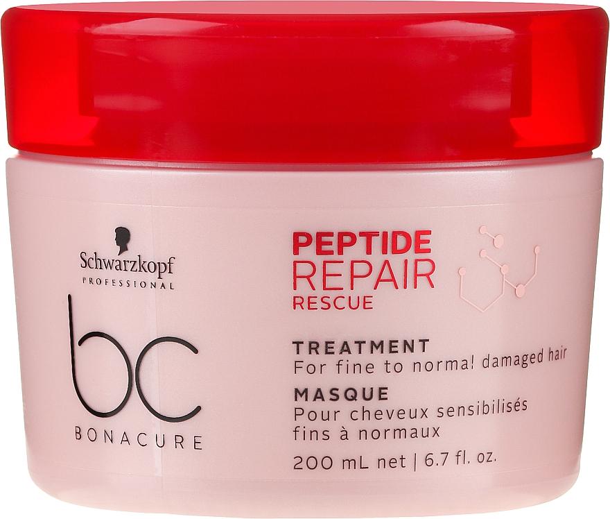 Mască regenerantă pentru păr subțire și deteriorat - Schwarzkopf Professional BC Bonacure Peptide Repair Rescue Treatment Mask