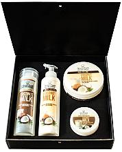 Parfumuri și produse cosmetice Set - Hristina Cosmetics Stani Chef's Coconut Milk (b/lot/250ml + sh/gel/250ml + b/scrub/250ml + h/cr/100ml)