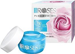 Parfumuri și produse cosmetice Cremă de zi antirid pentru față - Nature of Agiva Roses Pure Rose Oil Anti-Age Complex Q10 Anti-Wrinkle Day Cream