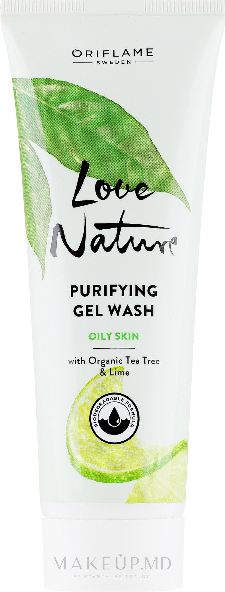 Gel de curățare pentru față - Oriflame Love Nature — Imagine 125 ml